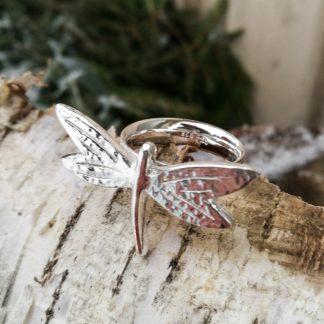 Øyenstikker - ring - sølv