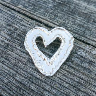Hjertenål - brosje